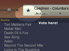 Screen shot of Caedmon music player
