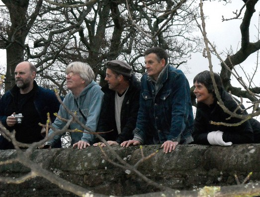 Five members of Caedmon meet on the ledge